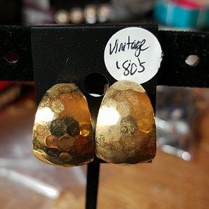 Gold Faux 1980's Earrings